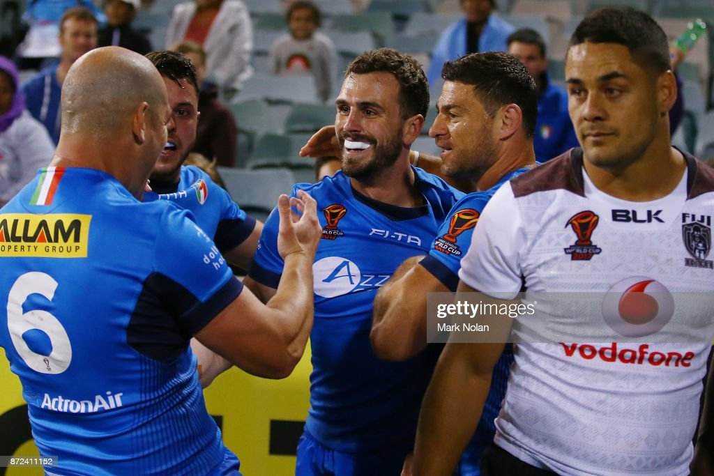 Fiji v Italy - 2017 Rugby League World Cup : News Photo