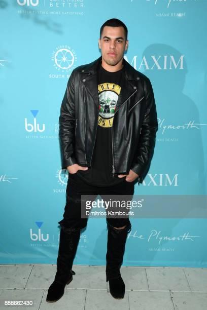 Josh Martinez attends the Maxim December Miami Issue Party Presented by blu on December 8 2017 in Miami Beach Florida