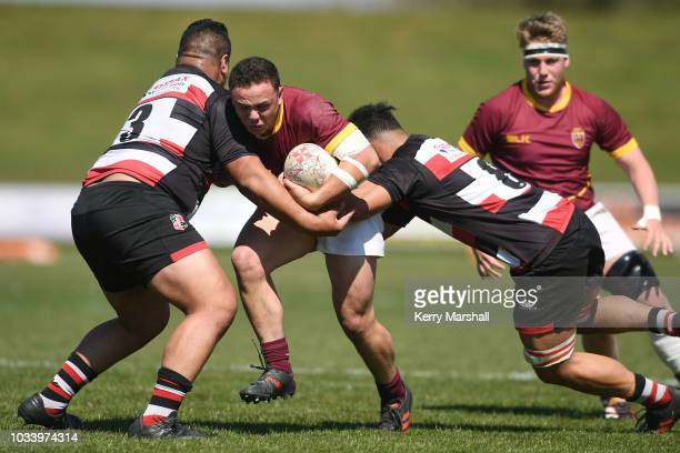 Josh Mason of Southland in action during the Jock Hobbs U19 Rugby Tournament on September 15 2018 in Taupo New Zealand
