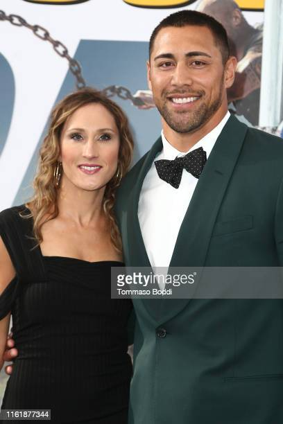 Josh Mauga and guest attend the Premiere Of Universal Pictures' Fast Furious Presents Hobbs Shaw at Dolby Theatre on July 13 2019 in Hollywood...