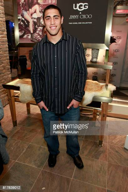 Josh Mauga attends UGG Australia and VOGUE Celebrate Madison Avenue Opening at UGG Australia on October 28 2010 in New York City