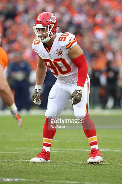 Josh Mauga of the Kansas City Chiefs in action during the game against the Denver Broncos at Sports Authority Field At Mile High on November 15 2015...