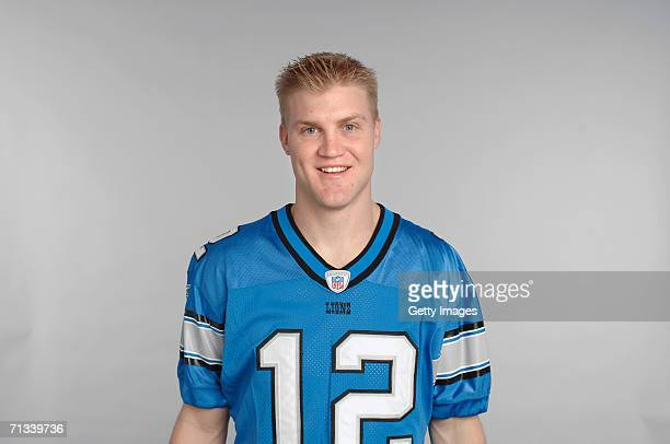 Josh McCown of the Detroit Lions poses for his 2006 NFL headshot at photo day in Detroit Michigan