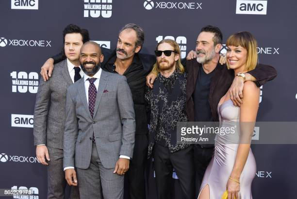 Josh McDermitt Khary Payton Steven Ogg Austin Amelio Jeffrey Dean Morgan and Pollyanna McIntosh attend AMC Celebrates The 100th Episode Of 'The...