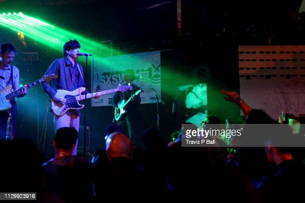 Josh McKay, Bradford Cox, and Lockett Pundt of Deerhunter perform onstage at The Onion AV Club Event during the 2019 SXSW Conference and Festivals at...