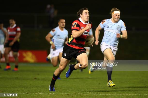 Josh Mckay of Canterbury scores a try during the round 6 Mitre 10 Cup match between Northland and Canterbury at Semenoff Stadium on September 13,...
