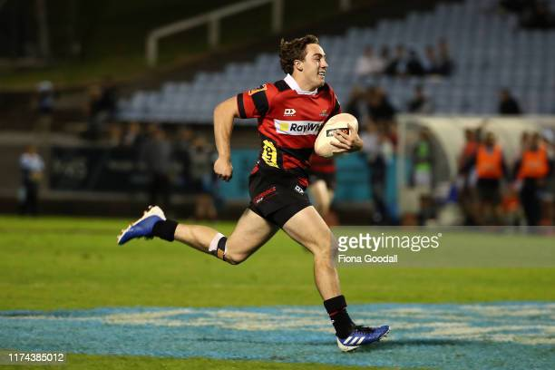 Josh Mckay of Canterbury scors a try during the round 6 Mitre 10 Cup match between Northland and Canterbury at Semenoff Stadium on September 13 2019...