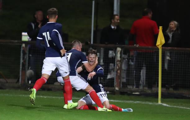 GBR: Scotland v Germany - UEFA Under 19 European Qualifier