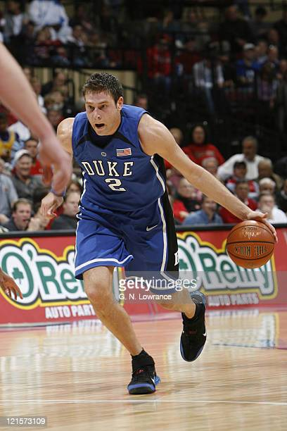 Josh McRoberts of Duke drives the lane during semifinal action between Air Force and Duke at the annual CBE Classic at Municipal Auditorium in Kansas...