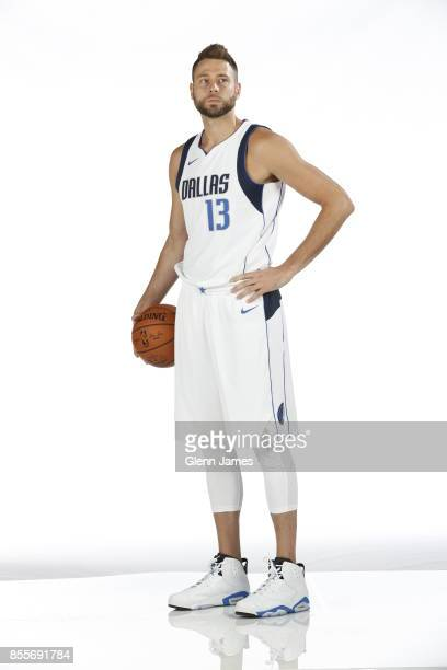 Josh McRoberts of the Dallas Mavericks poses for a portrait during the Dallas Mavericks Media Day on September 25 2017 at the American Airlines...