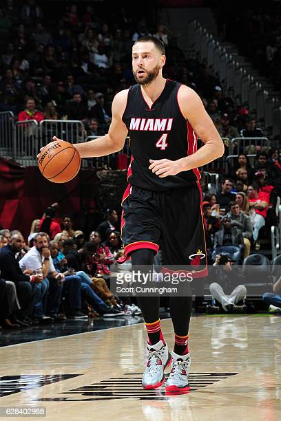 Josh McRoberts of the Miami Heat handles the ball against the Atlanta Hawks on December 7 2016 at Philips Arena in Atlanta Georgia NOTE TO USER User...