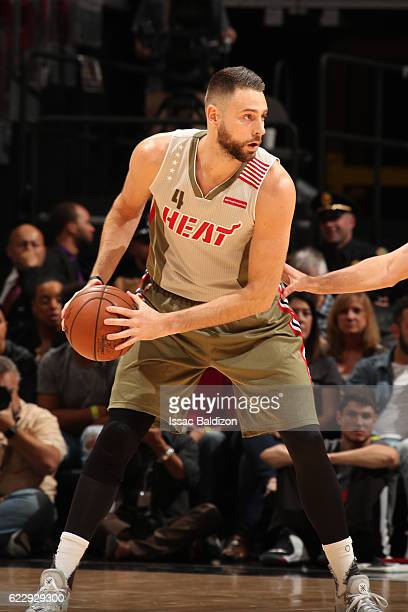 Josh McRoberts of the Miami Heat handles the ball against the Utah Jazz on November 12 2016 at American Airlines Arena in Miami Florida NOTE TO USER...
