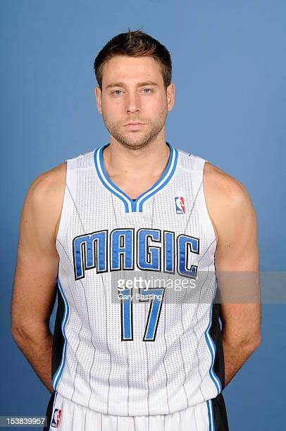 Josh McRoberts of the Orlando Magic poses for a photo at media day on October 1 2012 at Amway Center in Orlando Florida NOTE TO USER User expressly...