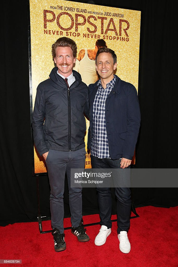 Josh Meyers (L) and Seth Meyers attend 'Popstar: Never Stop Never Stopping' New York Premiere at AMC Loews Lincoln Square 13 theater on May 24, 2016 in New York City.