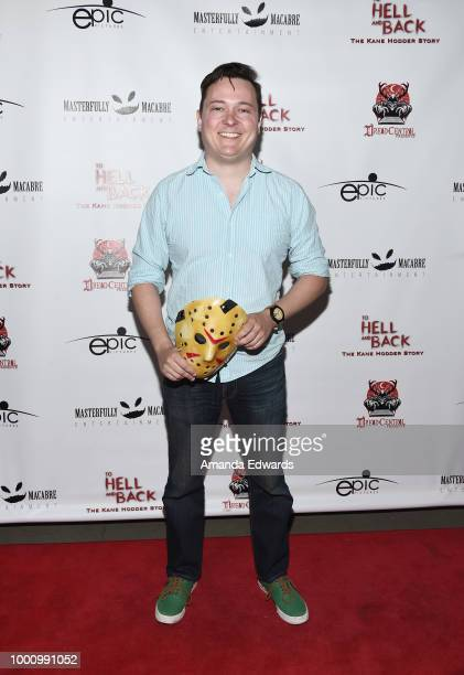 Josh Miller arrives at a screening of Epic Pictures Releasing's 'To Hell And Back The Kane Hodder Story' at the TCL Chinese 6 Theatres on July 17...