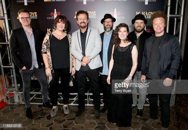 Josh Mix Megan Garrett Mark Hall Juan DeVevo Melodee DeVevo guest and Brian Scoggin of Casting Crowns attend the 7th Annual KLOVE Fan Awards at The...