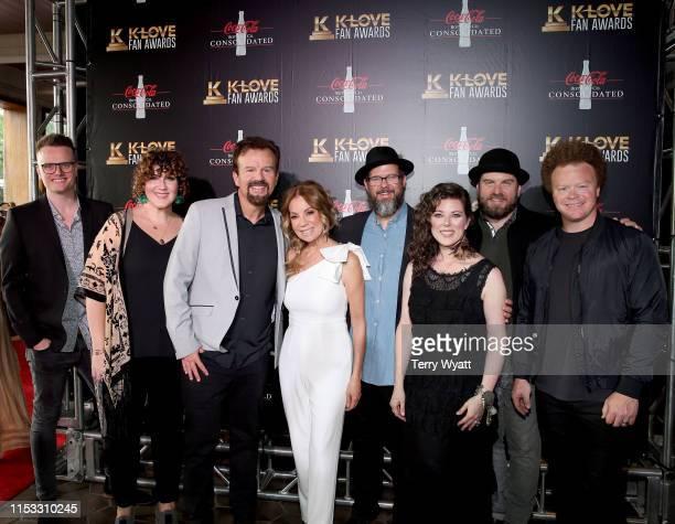 Josh Mix Megan Garrett Mark Hall of musical group Casting Crowns Kathie Lee Gifford Juan DeVevo Melodee DeVevo guest and Brian Scoggin of musical...