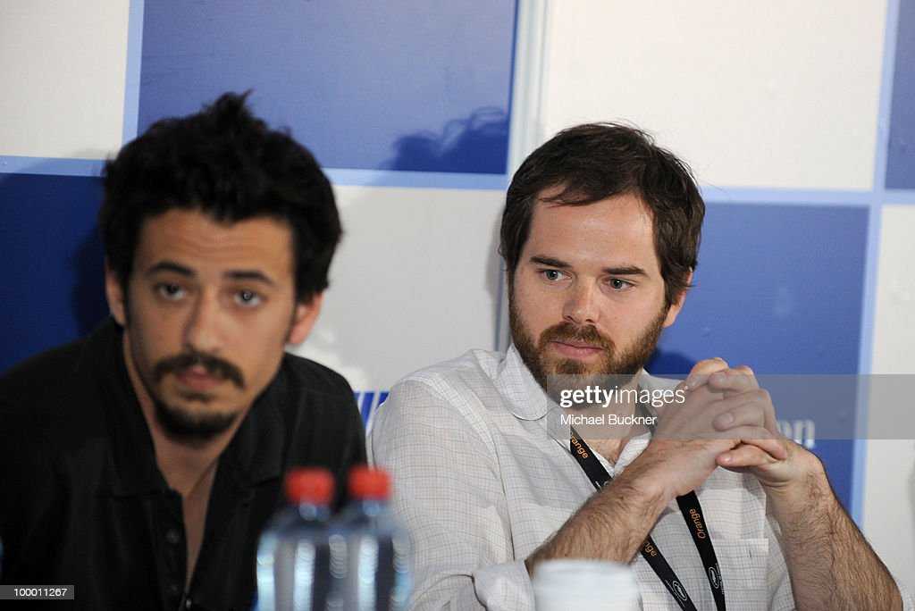 Josh Mond and Producer Sean Durkin attend the James Franco Press Conference at the American Pavillion during the 63rd Annual Cannes Film Festival on May 20, 2010 in Cannes, France.