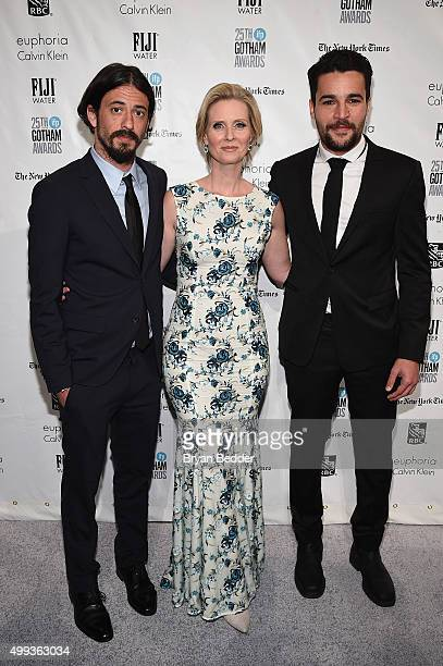 Josh Mond Cynthia Nixon and Christopher Abbott attend the 25th IFP Gotham Independent Film Awards cosponsored by FIJI Water at Cipriani Wall Street...