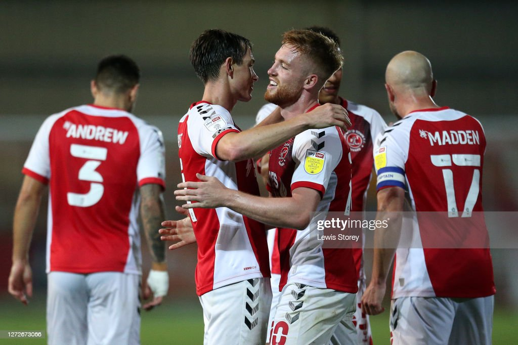 Fleetwood Town v Port Vale - Carabao Cup Second Round : News Photo