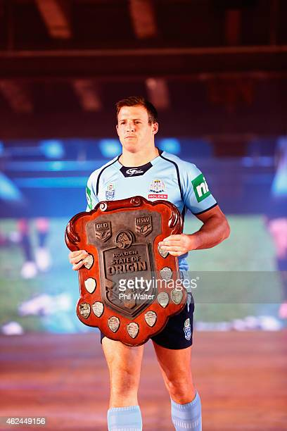 Josh Morris of NSW during the 2015 NRL season launch at Shed 10 on January 29 2015 in Auckland New Zealand