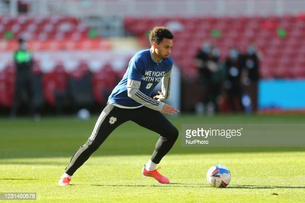 Josh Murphy of Cardiff City during the Sky Bet Championship match between Middlesbrough and Cardiff City at the Riverside Stadium, Middlesbrough on...