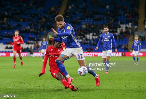 Josh Murphy of Cardiff City FC during the Sky Bet Championship match between Cardiff City and Nottingham Forest at Cardiff City Stadium on February...