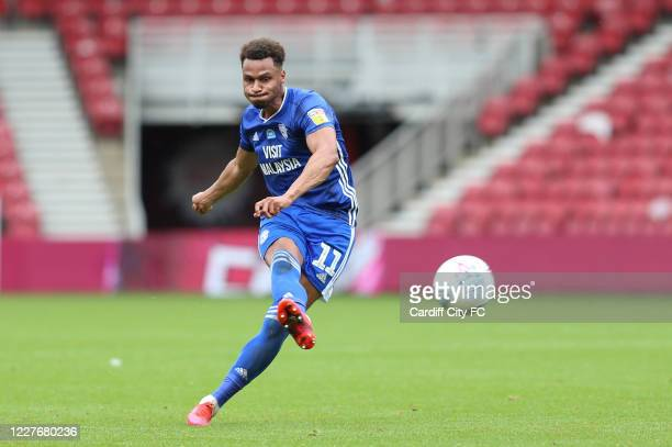 Josh Murphy of Cardiff City FC during the Sky Bet Championship match between Middlesbrough and Cardiff City at Riverside Stadium on July 18 2020 in...