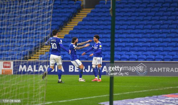Josh Murphy of Cardiff City FC during the Sky Bet Championship match between Cardiff City and Preston North End at Cardiff City Stadium on February...