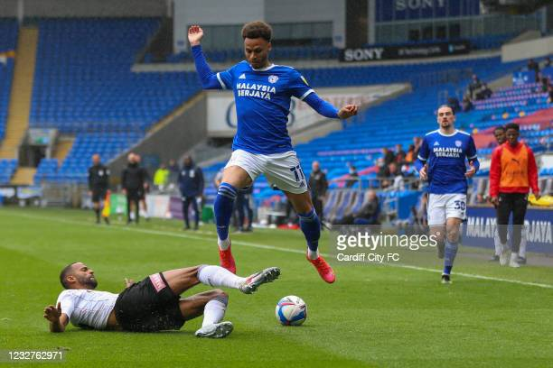 Josh Murphy of Cardiff City FC during the Sky Bet Championship match between Cardiff City and Rotherham United at Cardiff City Stadium on May 8, 2021...