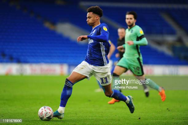 Josh Murphy of Cardiff City in action during the FA Cup third round match between Cardiff City and Carlisle United at the Cardiff City Stadium on...