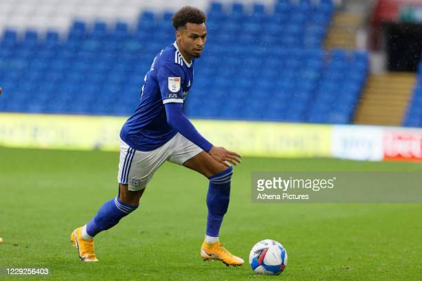Josh Murphy of Cardiff City in action during the Sky Bet Championship match between Cardiff City and Middlesbrough at the Cardiff City Stadium on...