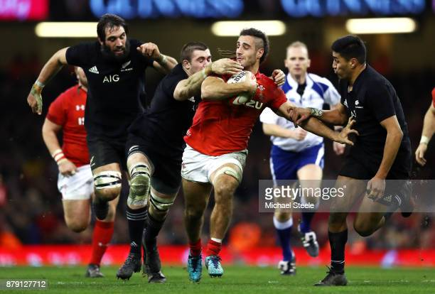 Josh Navidi of Wales attempts to break through during the International match between Wales and New Zealand at Principality Stadium on November 25...