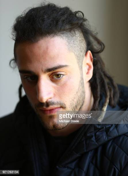 Josh Navidi of Wales speaks to the media duirng a press conference at Vale of Glamorgan on February 20 2018 in Cardiff Wales