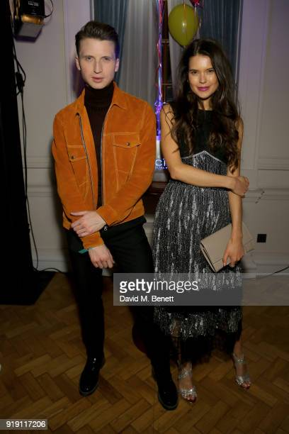 Josh NewisSmith and SarahAnn Murray attend the CIROC x MTV Wonderland party at The Ned on February 16 2018 in London England
