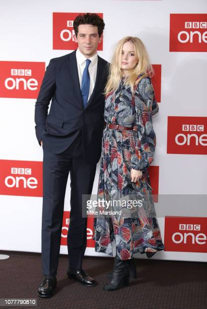 Josh O'Connor and Elle Bamber attend a photocall for BBC One's Les Miserables at BAFTA on December 05 2018 in London England