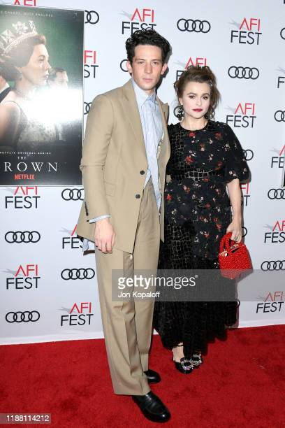 Josh O'Connor and Helena Bonham Carter attend 'The Crown' Premiere at AFI FEST 2019 presented by Audi at TCL Chinese Theatre on November 16 2019 in...