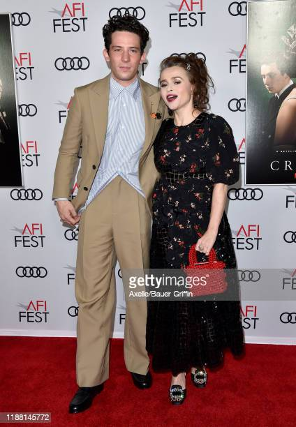 Josh O'Connor and Helena Bonham Carter attend The Crown Premiere at AFI FEST 2019 presented by Audi at TCL Chinese Theatre on November 16 2019 in...