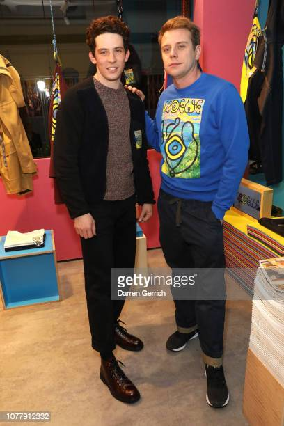 Josh O'Connor and Jonathan Anderson attend the Eye/LOEWE/Nature launch At exclusive popup on Brewer Street on January 5 2019 in London England