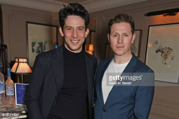 Josh O'Connor and Scott Arthur attend Grey Goose Vodka and GQ Style's dinner in celebration of film and fashion at Kettner's on February 16 2018 in...