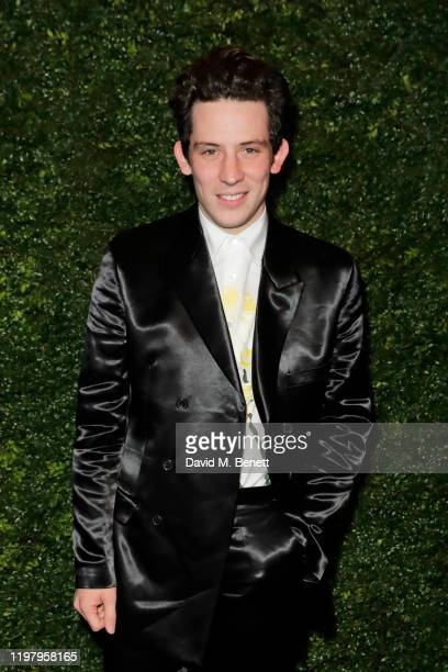 Josh O'Connor arrives at the Charles Finch & CHANEL Pre-BAFTA Party at 5 Hertford Street on February 1, 2020 in London, England.