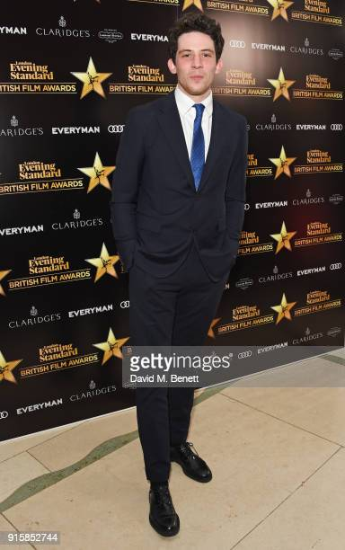 Josh O'Connor arrives at the London Evening Standard British Film Awards 2018 at Claridge's Hotel on February 8 2018 in London England