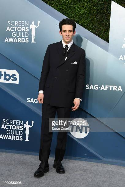 Josh O'Connor attends the 26th Annual Screen Actors Guild Awards at The Shrine Auditorium on January 19 2020 in Los Angeles California