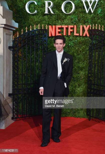 """Josh O'Connor attends the World Premiere of Netflix Original Series """"The Crown"""" Season 3 at The Curzon Mayfair on November 13, 2019 in London,..."""