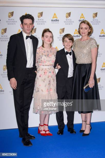 Josh O'Connor Daisy Waterstone Milo Parker and Keeley Hawes attend the Royal Television Society Programme Awards on March 21 2017 in London United...