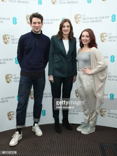 Josh O'Connor Florence Pugh and Amanda Berry during the EE Rising Star Nominations announcement held at BAFTA on January 4 2018 in London England