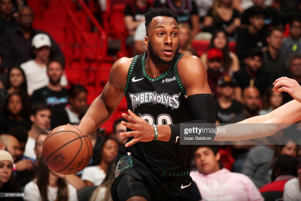 e892c61dcd Josh Okogie of the Minnesota Timberwolves handles the ball against ...
