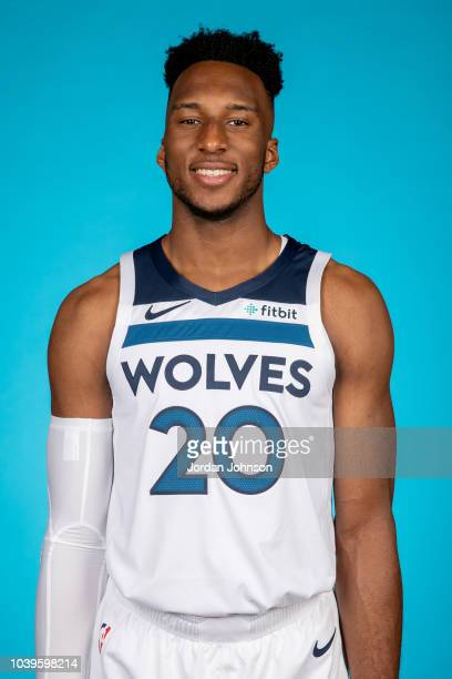 Josh Okogie of the Minnesota Timberwolves poses for a headshot during the 2018 Media Day on September 24, 2018 at Target Center in Minneapolis,...