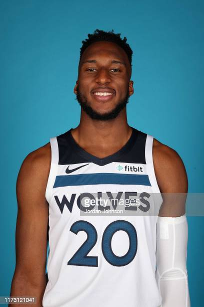 Josh Okogie of the Minnesota Timberwolves poses for head shot during 2019 Media Day on September 30, 2019 at Target Center in Minneapolis, Minnesota....