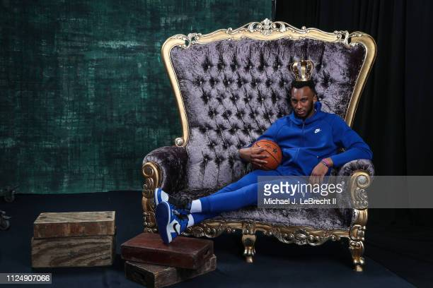 Josh Okogie of the Minnesota Timberwolves poses for portraits during the NBAE Circuit as part of 2019 NBA All-Star Weekend on February 14, 2019 at...